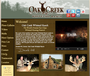 Oak Creek Whitetail Ranch Website